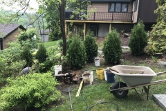 Installing a new green fence